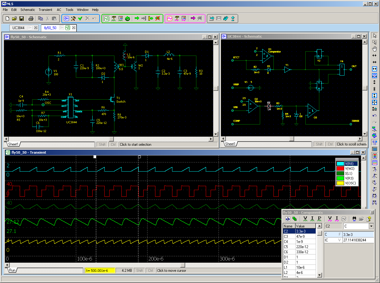 Screenshots Nl5 Circuit Simulator Electrical 2 Free Screenshot